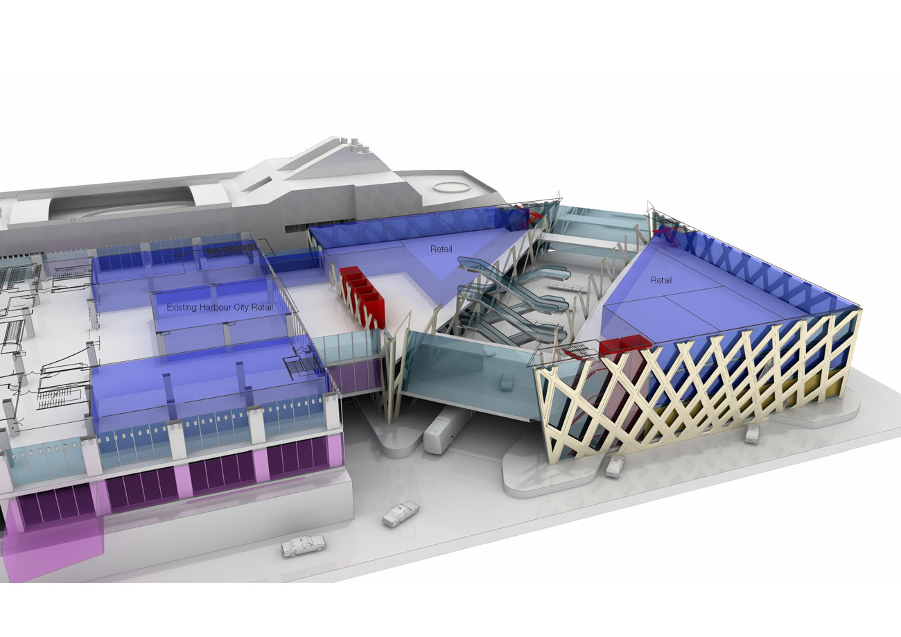 retail diagram - Hong Kong Ocean Terminal by Marks Barfield Architects