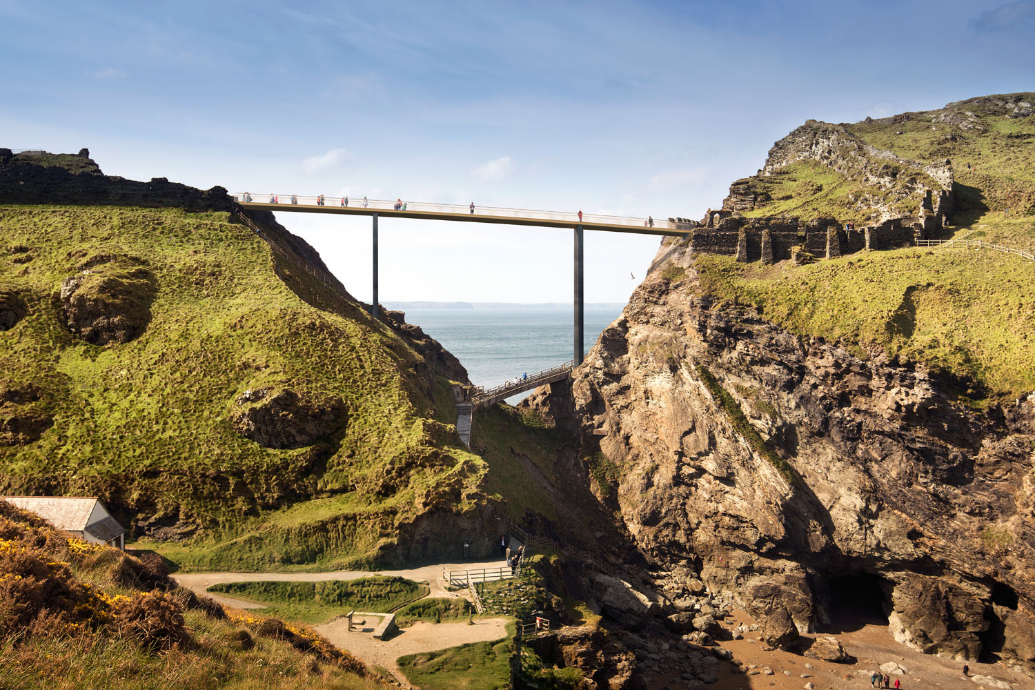 Tintagel Bridge by Marks Barfield Architects
