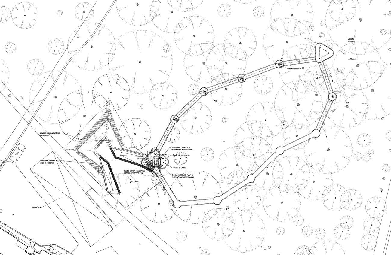 site plan - Kew Gardens Treetop Walkway by Marks Barfield Architects