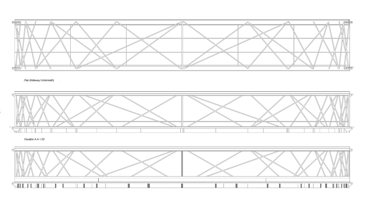 balustrade elevation - Kew Gardens Treetop Walkway by Marks Barfield Architects