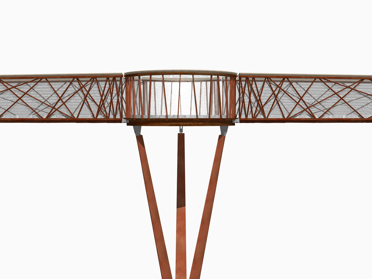 3d model - Kew Gardens Treetop Walkway by Marks Barfield Architects