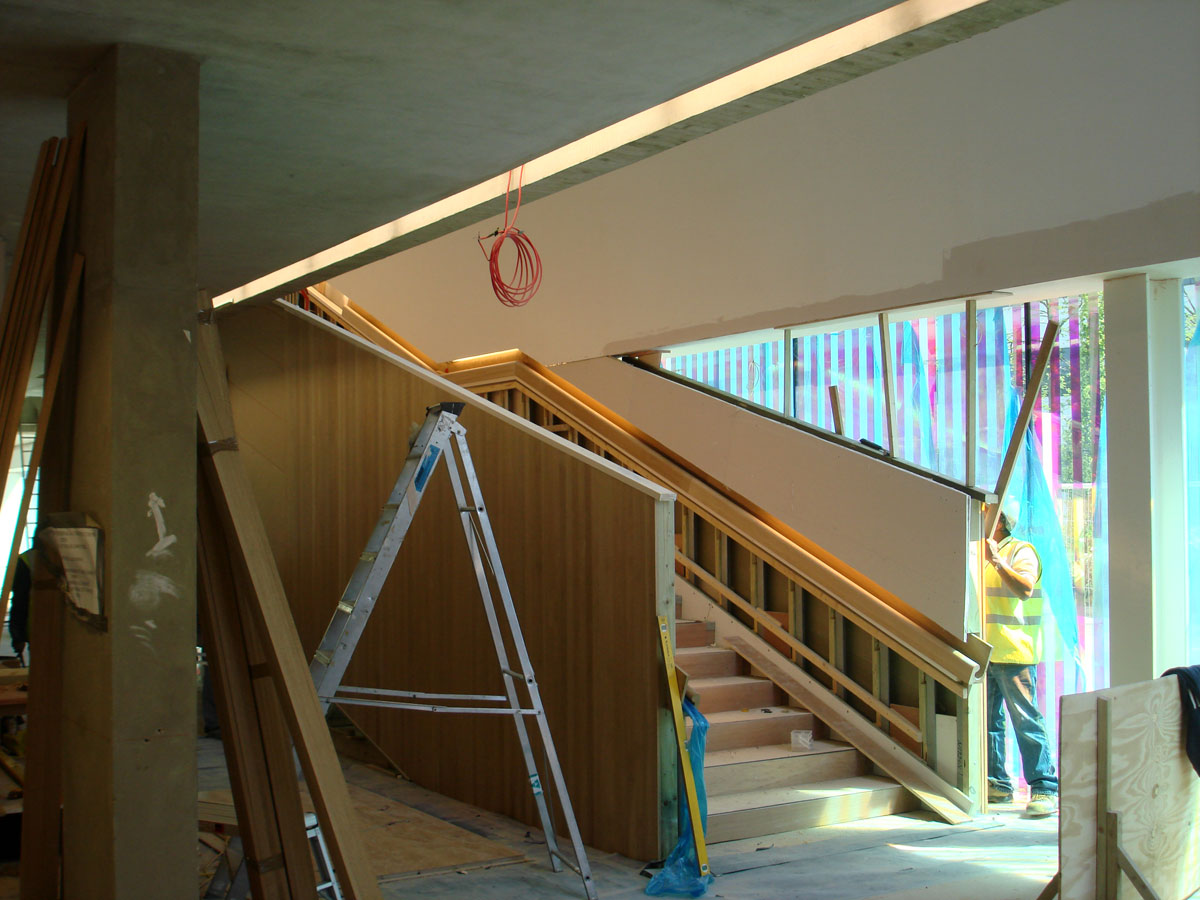 construction interior - Lightbox by Marks Barfield Architects