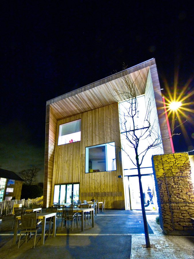 night shot - Lightbox by Marks Barfield Architects