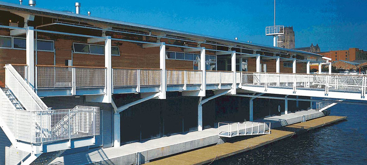 Liverpool Watersports Centre by Marks Barfield Architects