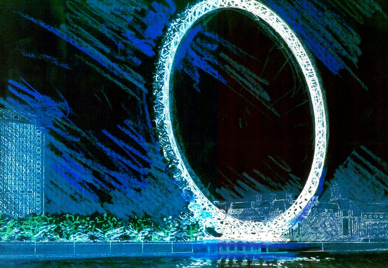 The Ring of Life by light artist Yann Kersale - The London Eye by Marks Barfield Architects