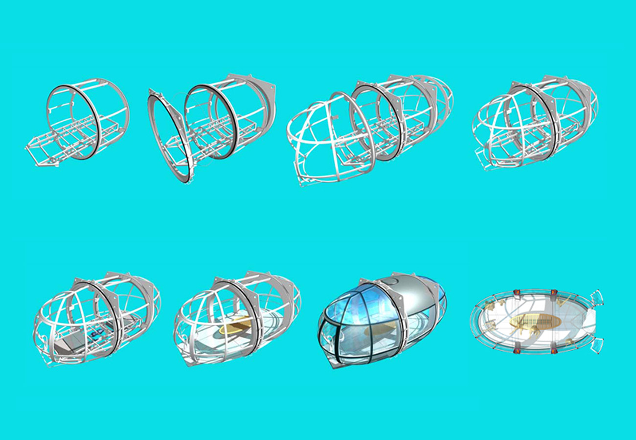Main capsule elements - The London Eye by Marks Barfield Architects