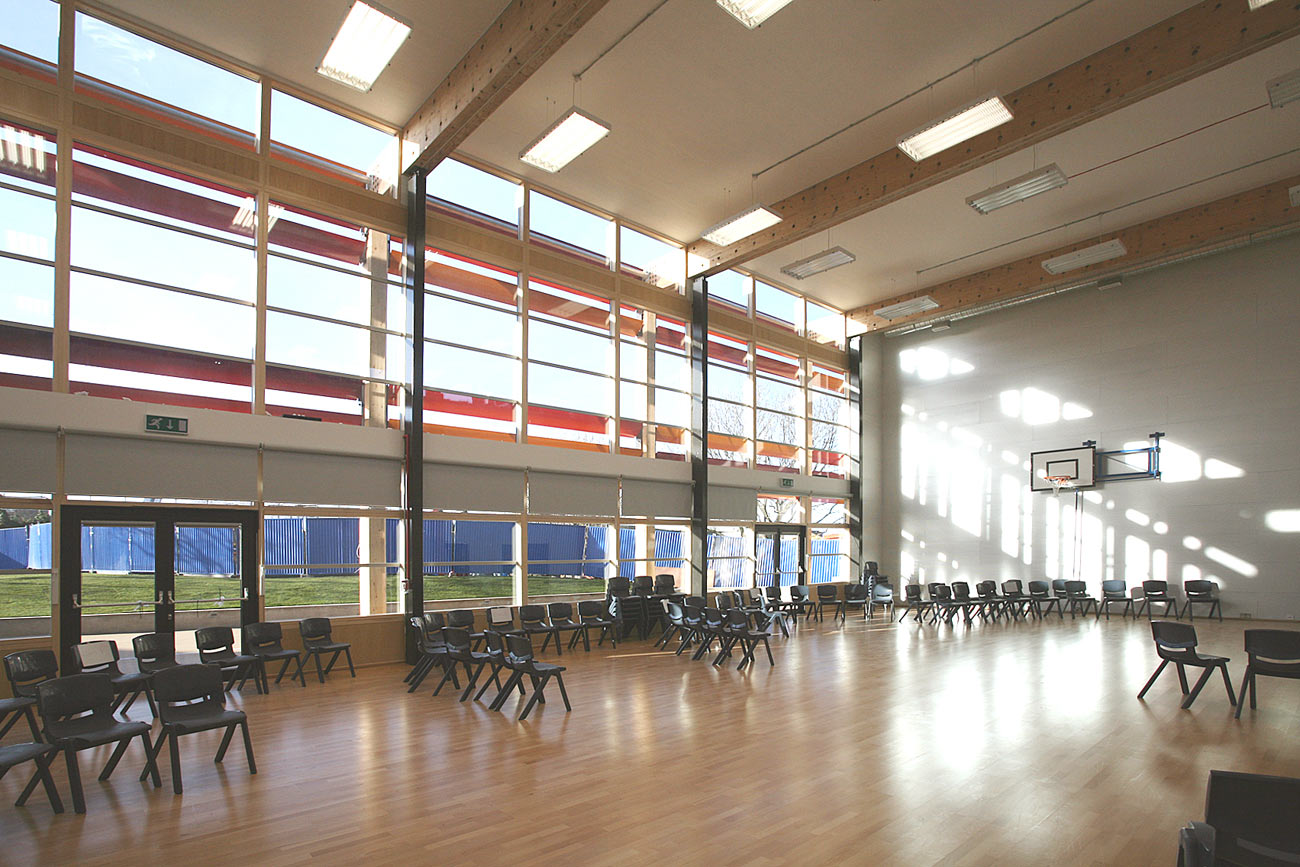 gymnasium - Michael Tippett School by Marks Barfield Architects