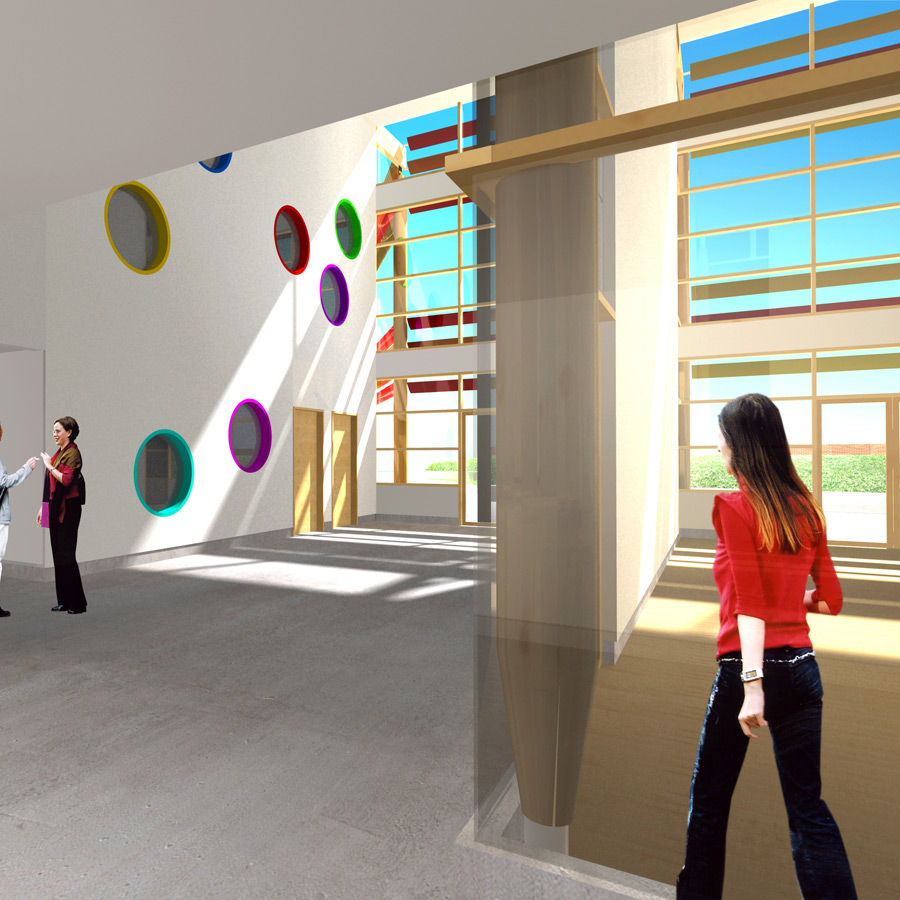 internal CGI view - Michael Tippett School by Marks Barfield Architects