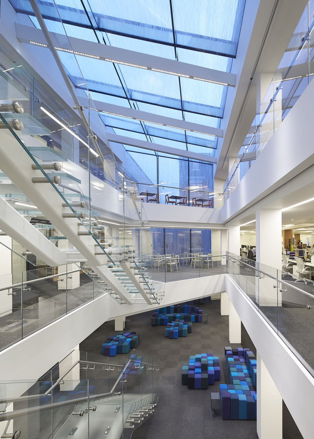 Atrium interior - 82 Baker Street by Marks Barfield Architects
