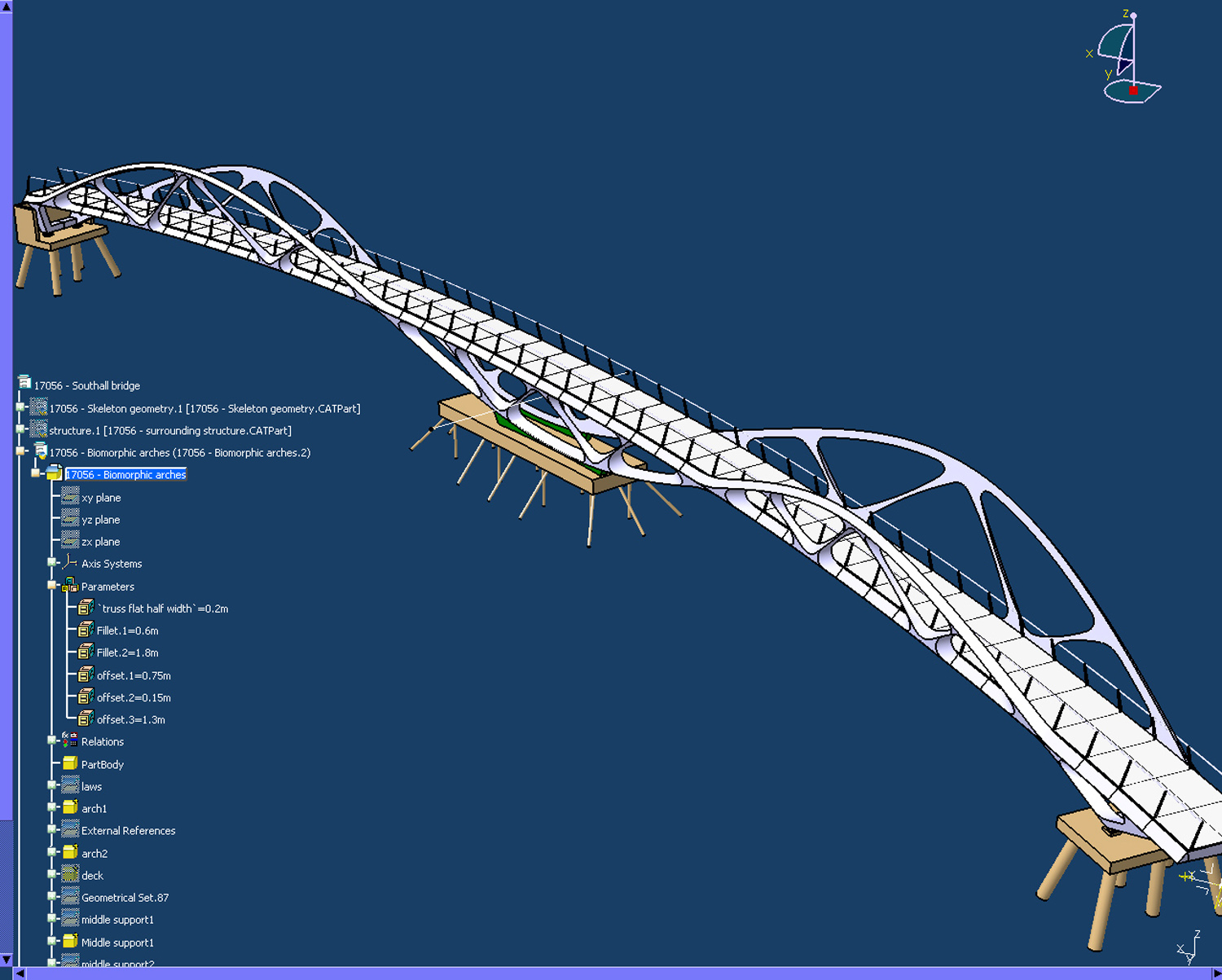 Catia Model - Springfield Bridge by Marks Barfield Architects