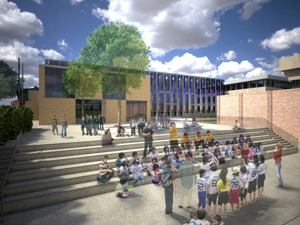 Lambeth BSF, Norwood Secondary School by Marks Barfield Architects