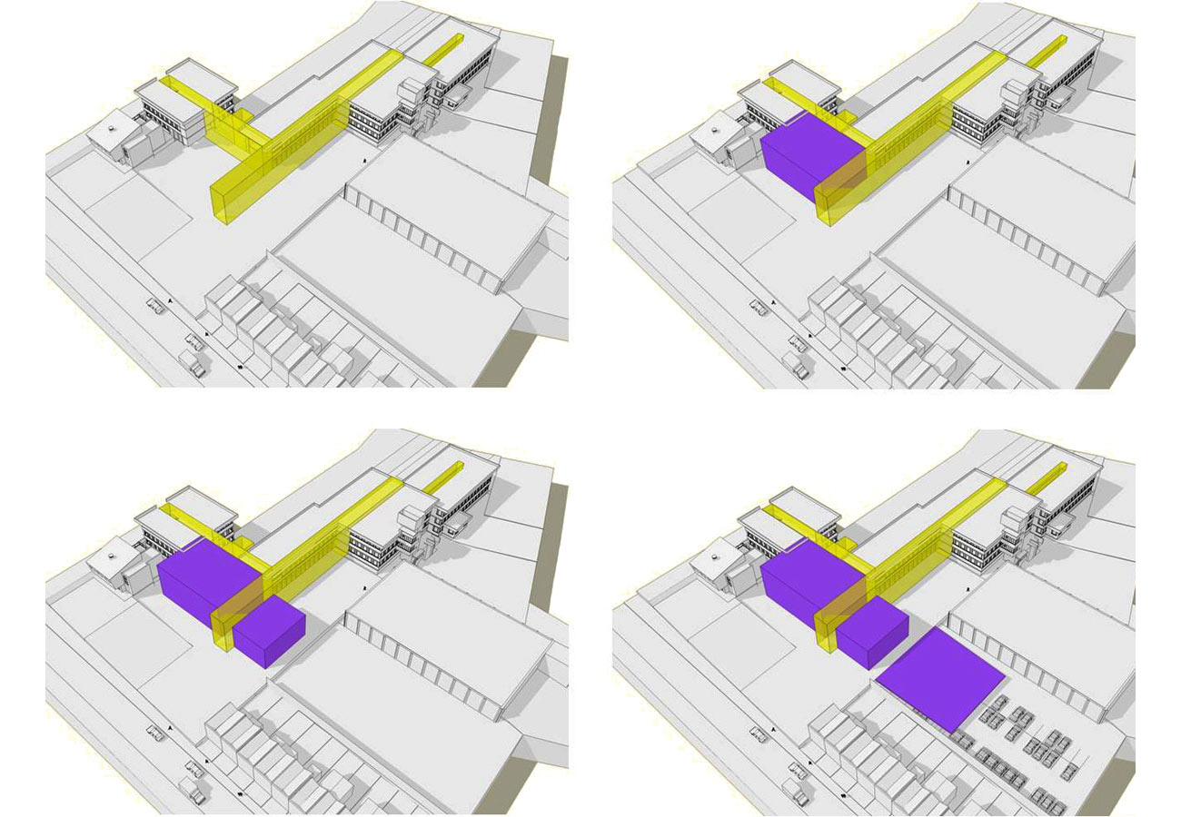 new circulation diagram - Lambeth BSF, Norwood Secondary School by Marks Barfield Architects