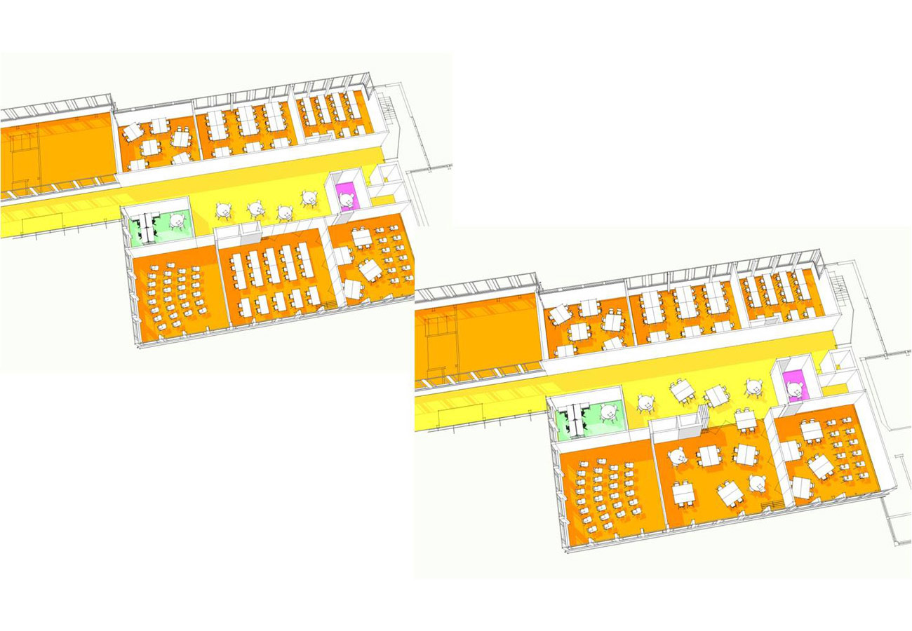 learning space diagram - Lambeth BSF, Norwood Secondary School by Marks Barfield Architects