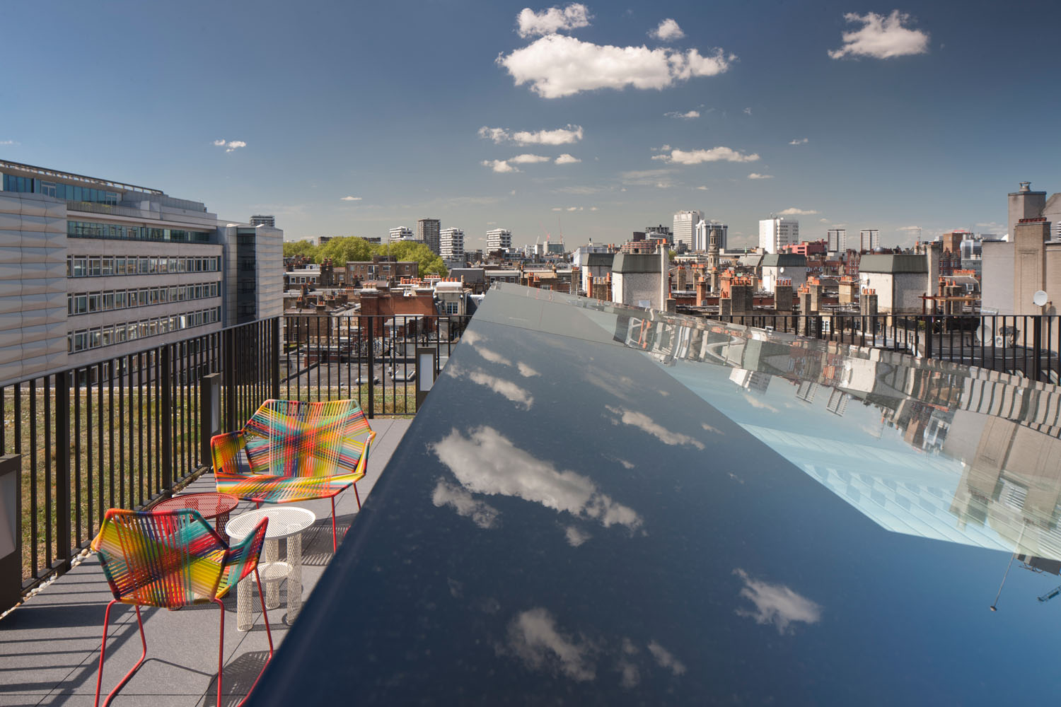 rooftop - 82 Baker Street by Marks Barfield Architects