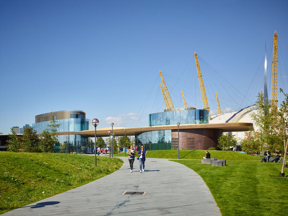 access view - Greenwich Gateway Pavilions by Marks Barfield Architects