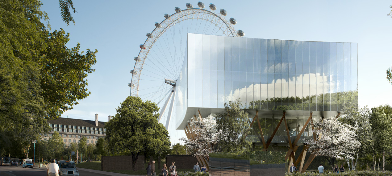Shell Centre Pavilion by Marks Barfield Architects