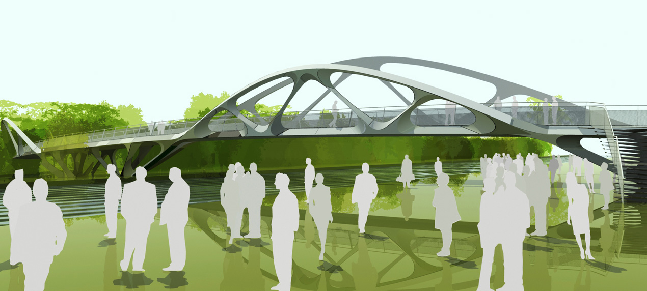 Springfield Bridge by Marks Barfield Architects