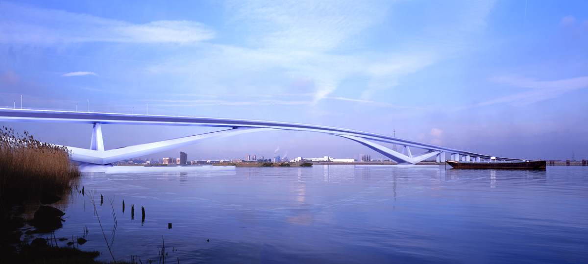 Thames Gateway Bridge by Marks Barfield Architects