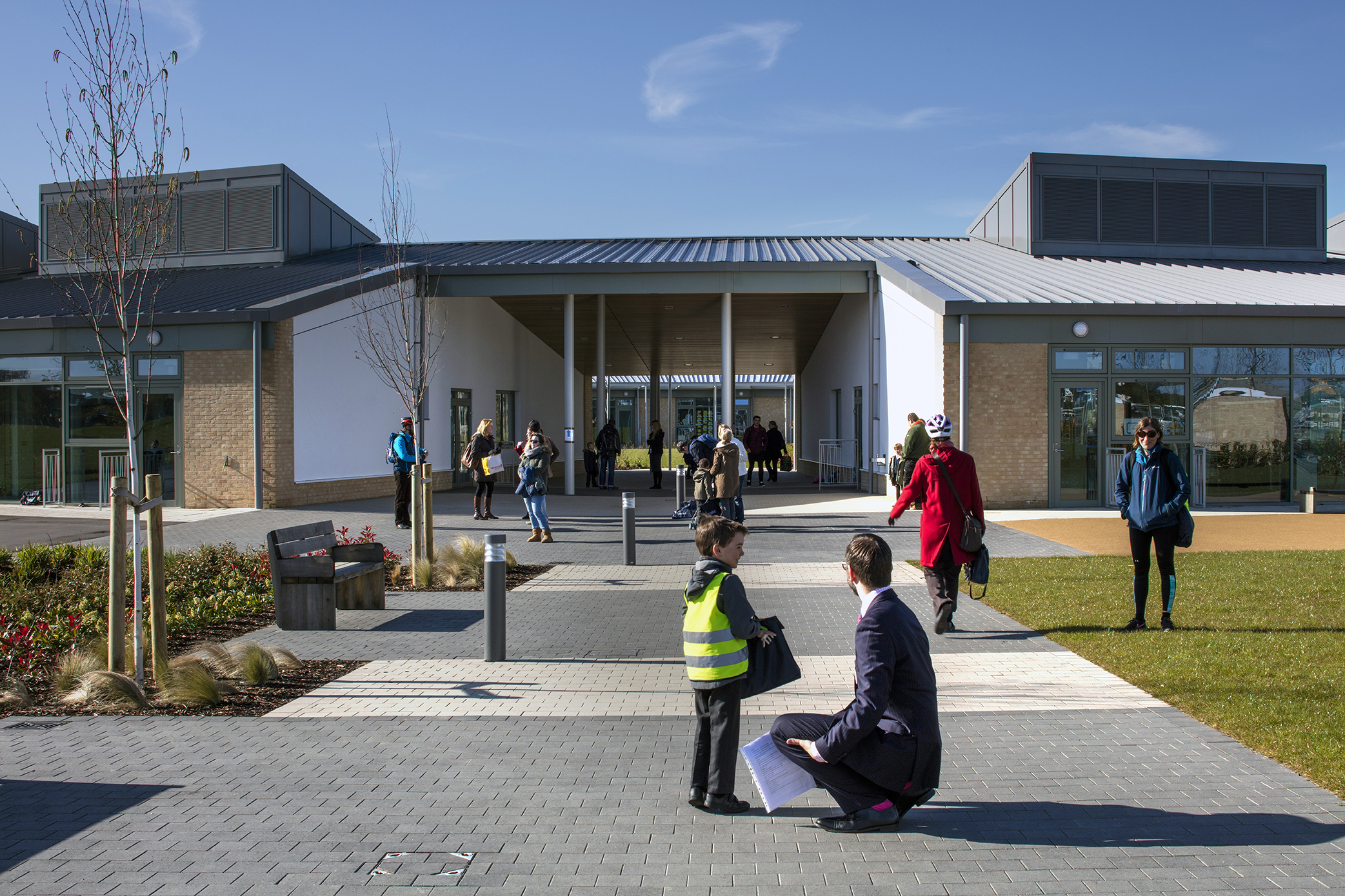 outside - University of Cambridge Primary School by Marks Barfield Architects