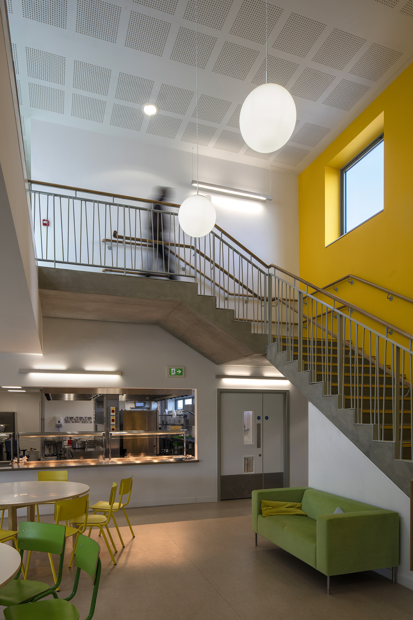 stairs - University of Cambridge Primary School by Marks Barfield Architects