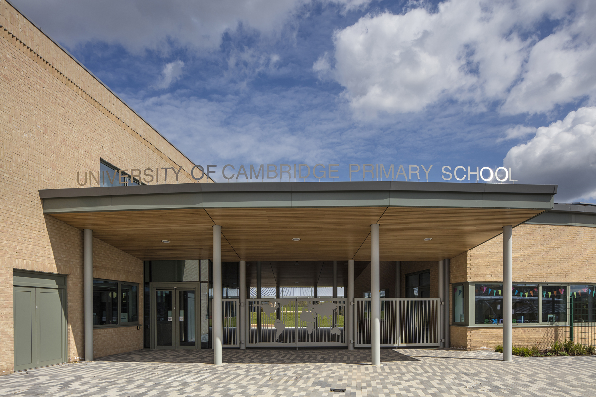 entrance - University of Cambridge Primary School by Marks Barfield Architects