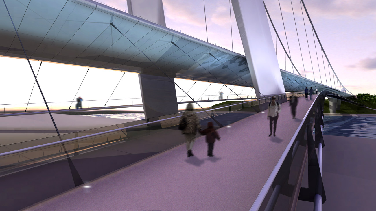 Sunderland Bridge by Marks Barfield Architects