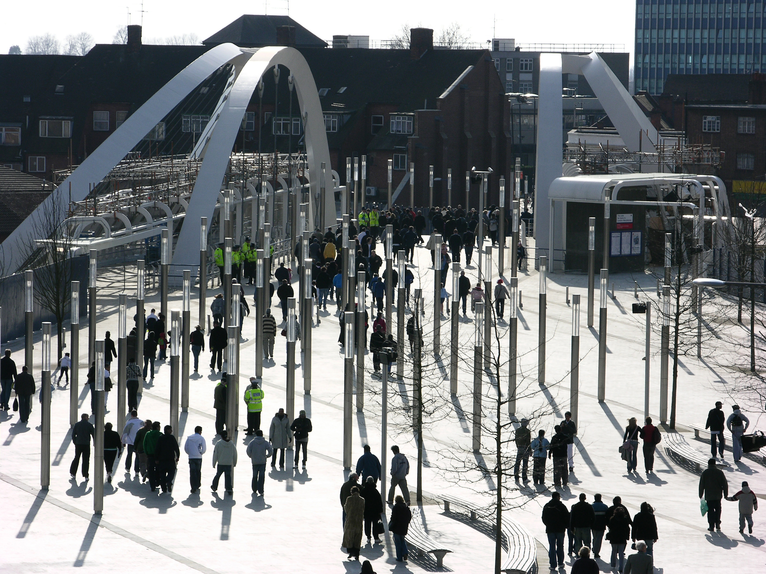 Wembley White Horse Bridge & Public Realm by Marks Barfield Architects