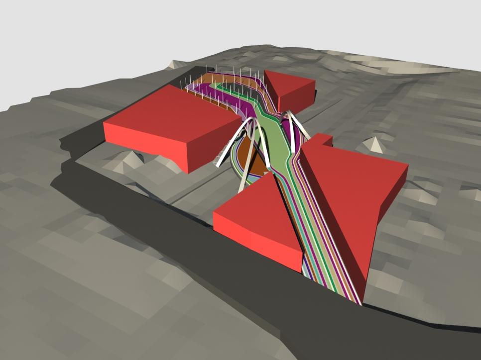 bridge 3d view - Wembley White Horse Bridge & Public Realm by Marks Barfield Architects