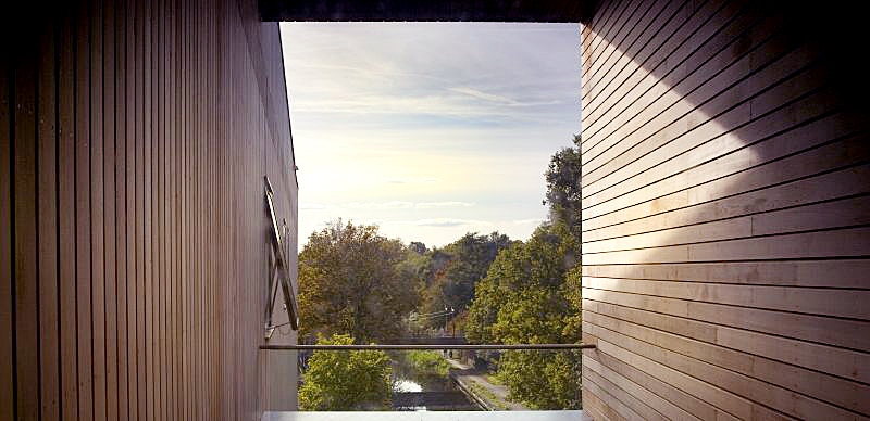 view to river from inside - Lightbox by Marks Barfield Architects