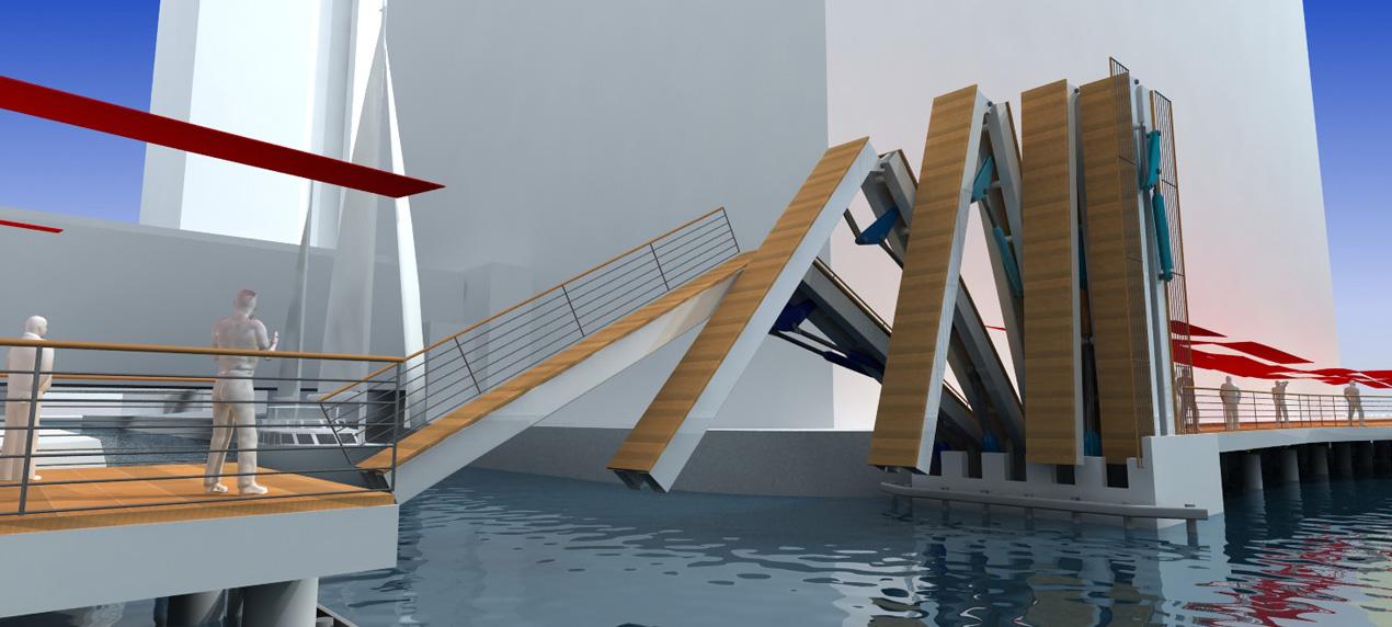 Wood Wharf Bridge by Marks Barfield Architects