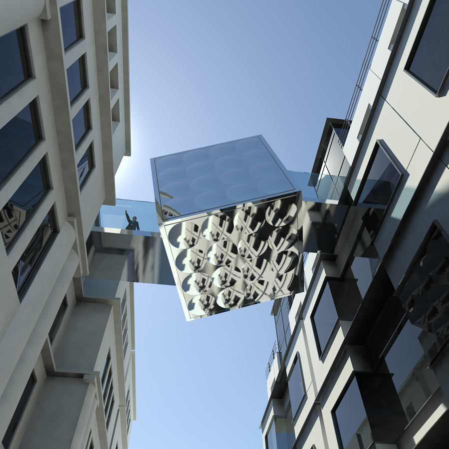 view from below - Link Bridge by Marks Barfield Architects