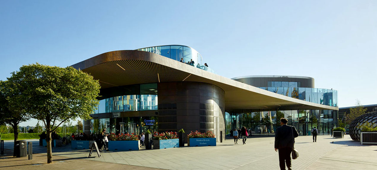 Greenwich Gateway Pavilions by Marks Barfield Architects