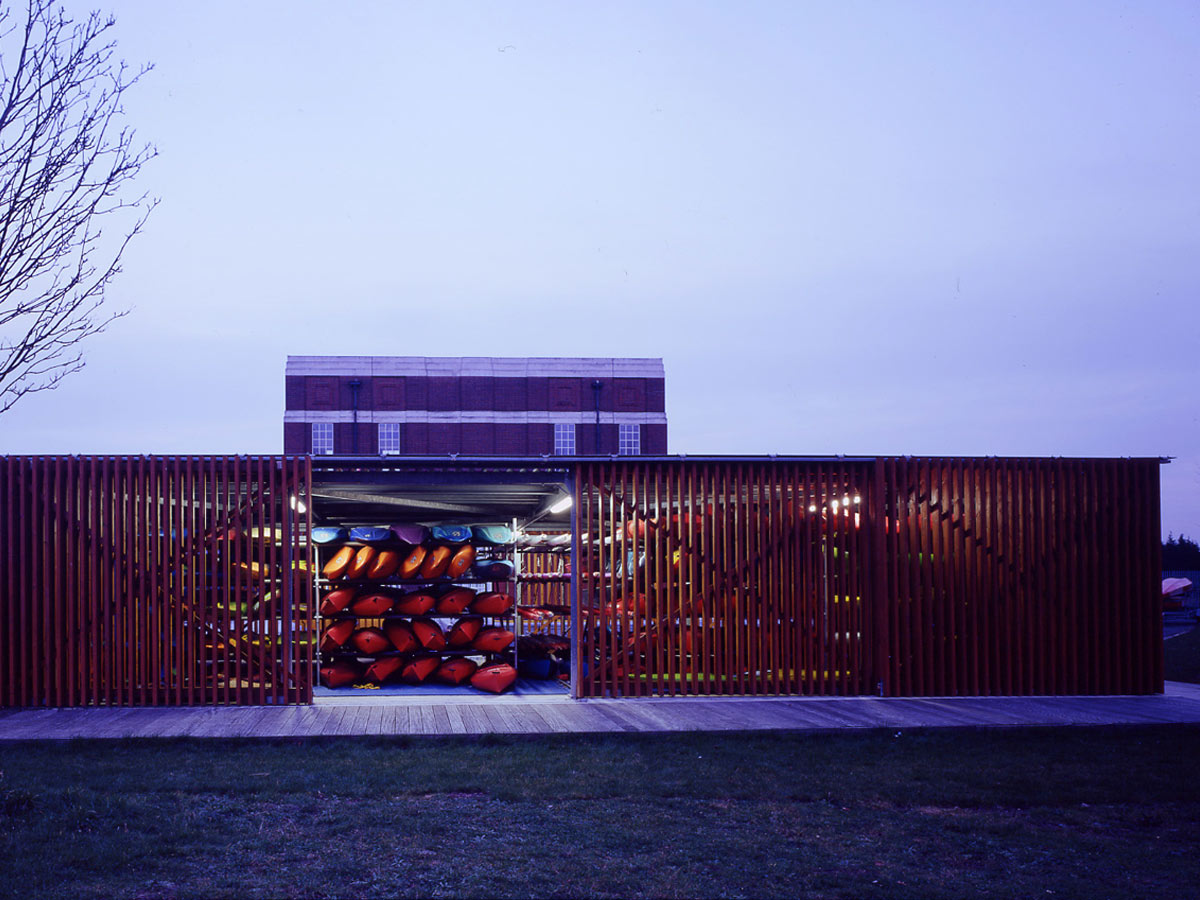 rear view - Stoke Newington Watersports Centre by Marks Barfield Architects