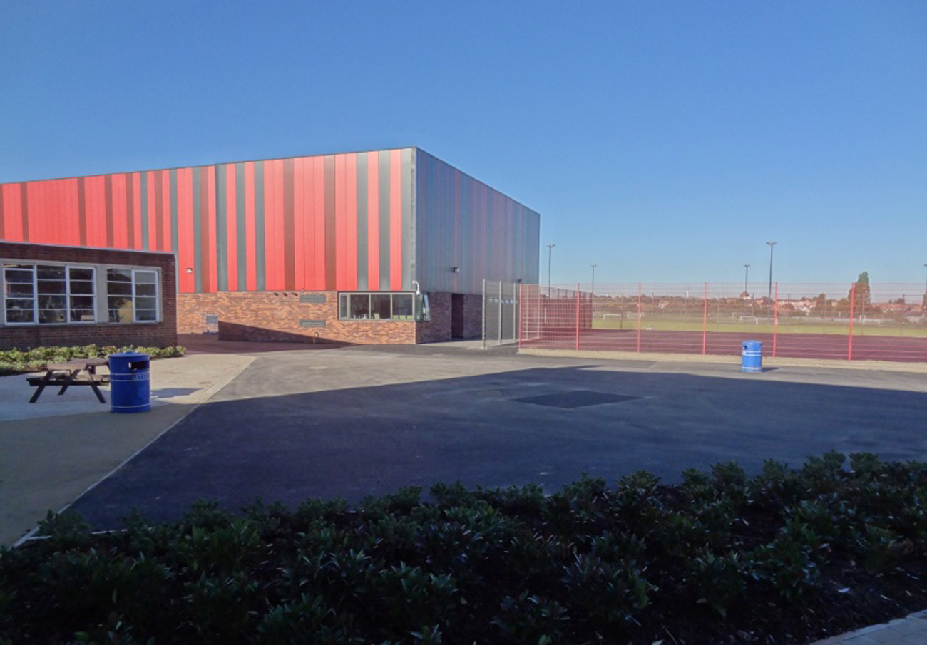 sports hall Saltley Secondary School by marks Barfield Architects