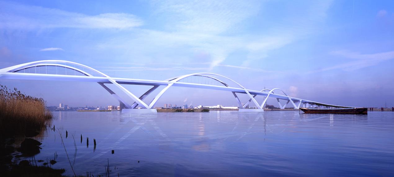 Thames Gateway Bridge by Marks Barfield Architects