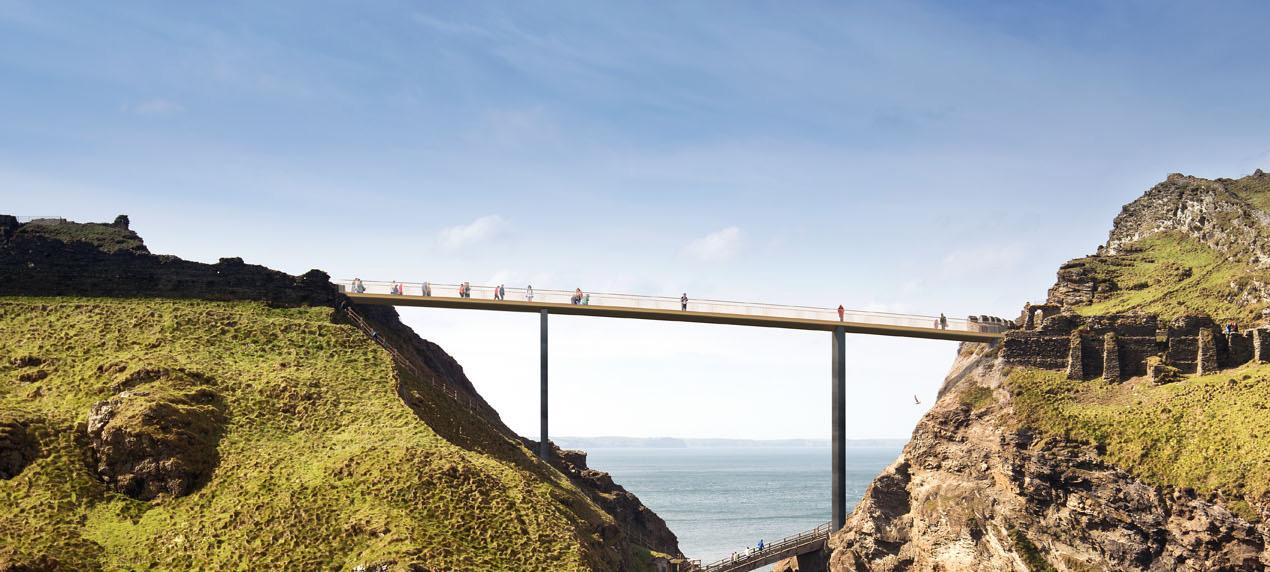Tintagel Bridge by Marks Barfield Architects