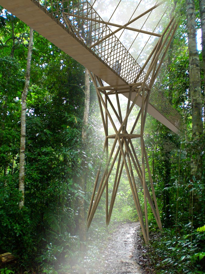 walkway - Amazon Charitable Trust Science Centre by Marks Barfield Architects