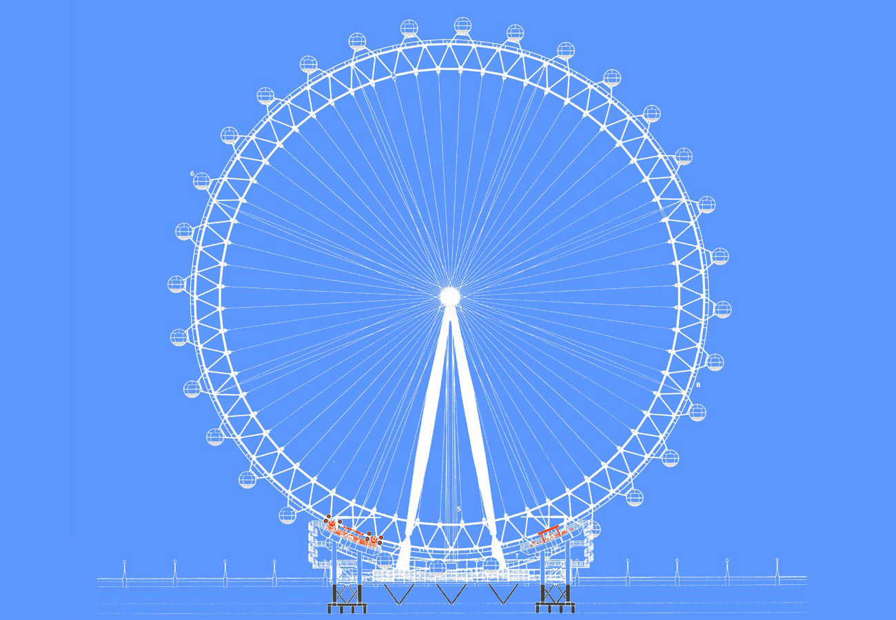 wheel elevation - The London Eye by Marks Barfield Architects
