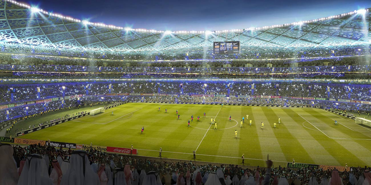 stadium football - King Abdullah Sports Oasis by Marks Barfield Architects