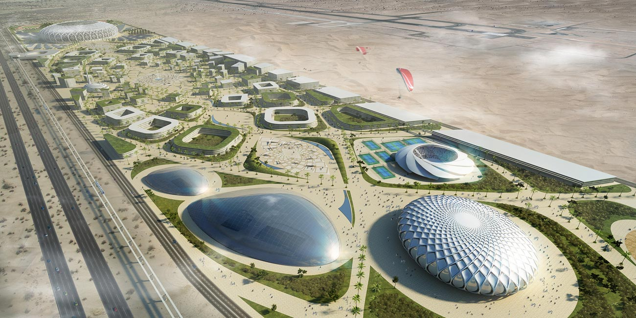 view - King Abdullah Sports Oasis by Marks Barfield Architects