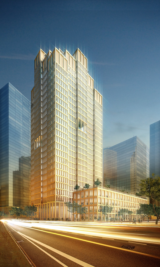 China Railway HQ Group View by Marks Barfield Architects