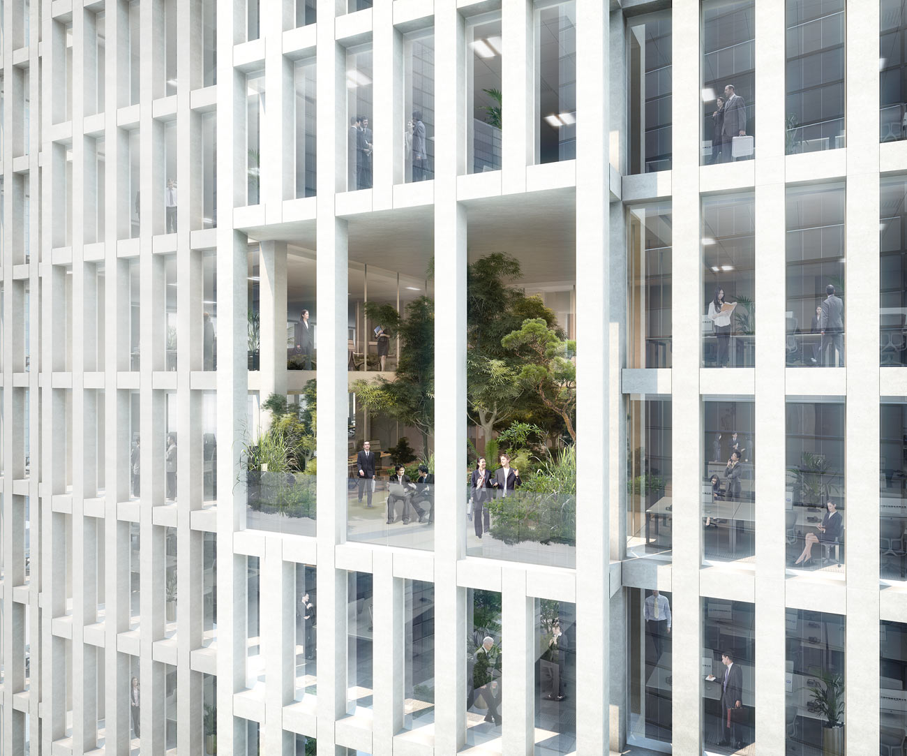 China Railway HQ Group High Garden View by Marks Barfield Architects