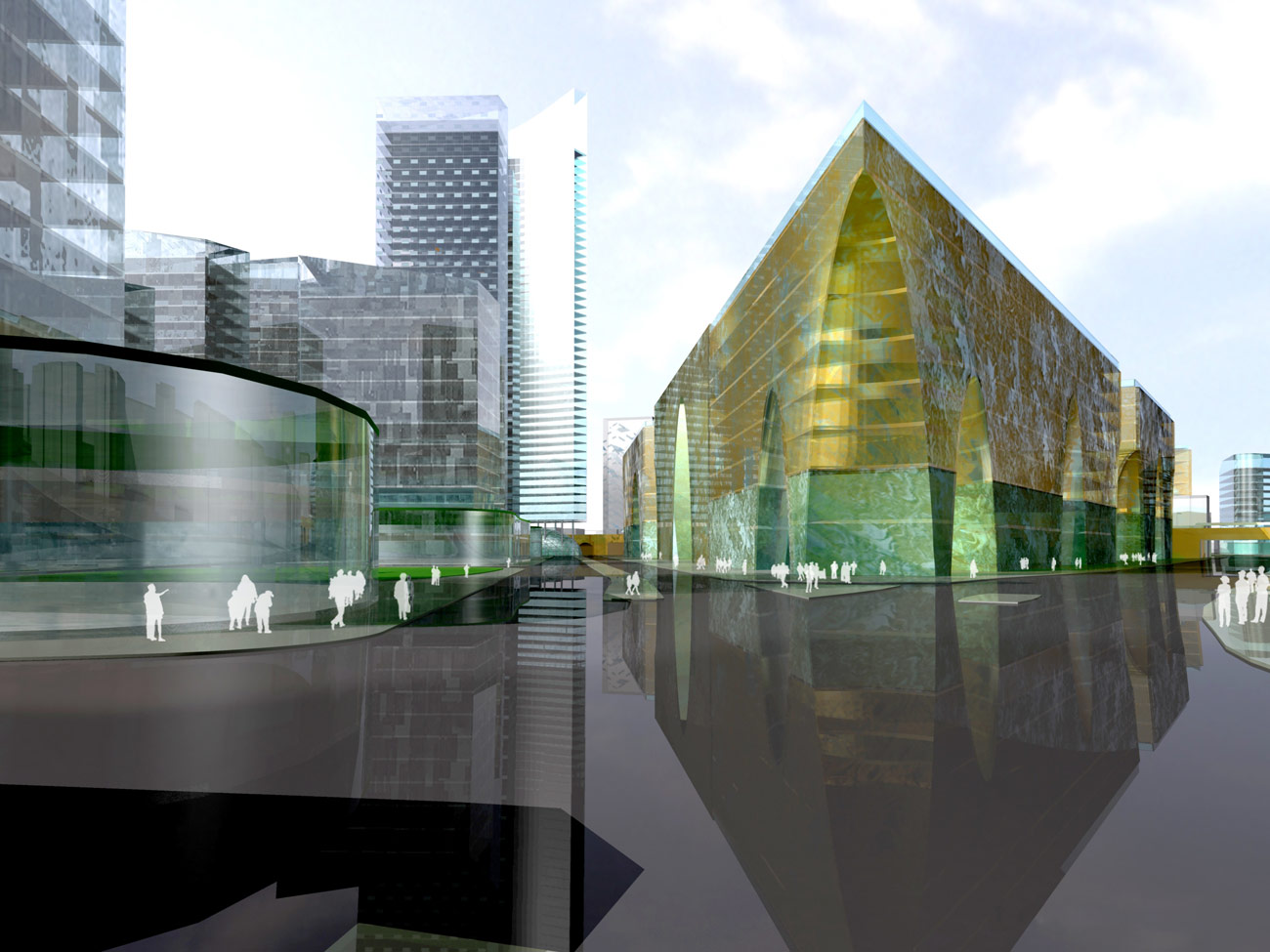 Elephant & Castle Master Plan View by Marks Barfield Architects