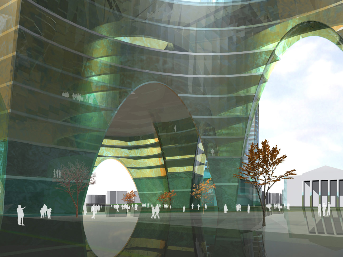 Elephant & Castle Master Plan Vault View by Marks Barfield Architects