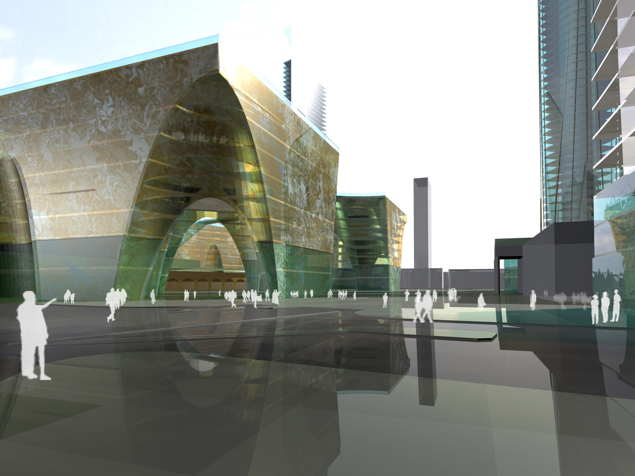 Elephant & Castle Master Plan Corridor View by Marks Barfield Architects