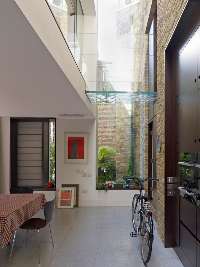 Priory Grove Glazed Link Bridge by Marks Barfield Architects