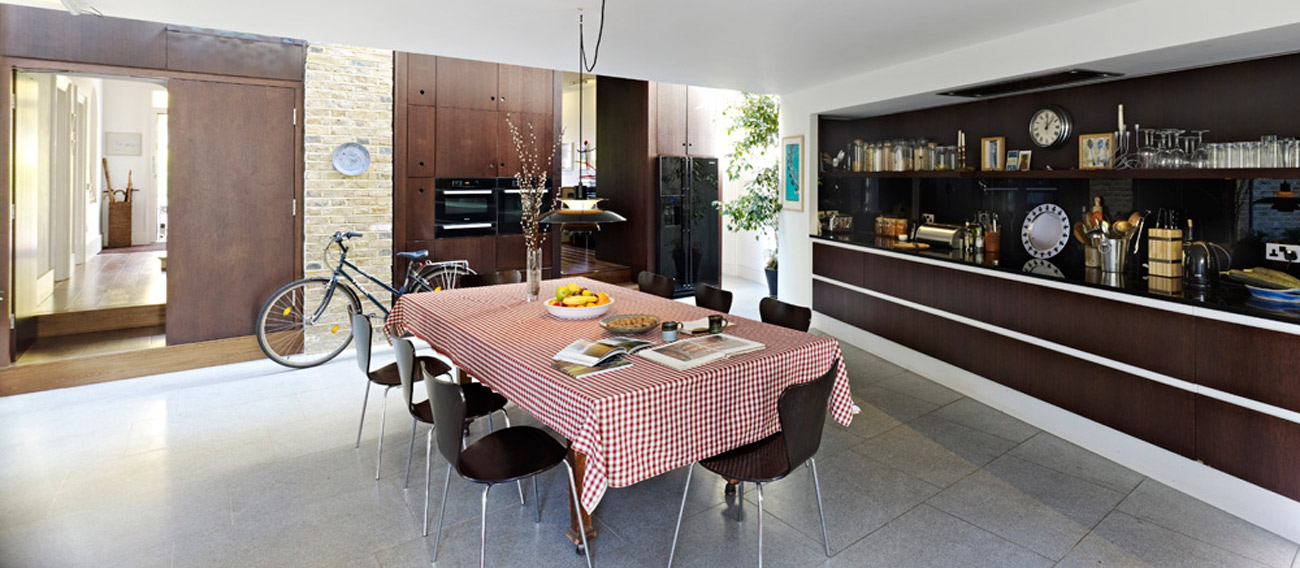Priory Grove Dinning View by Marks Barfield Architects