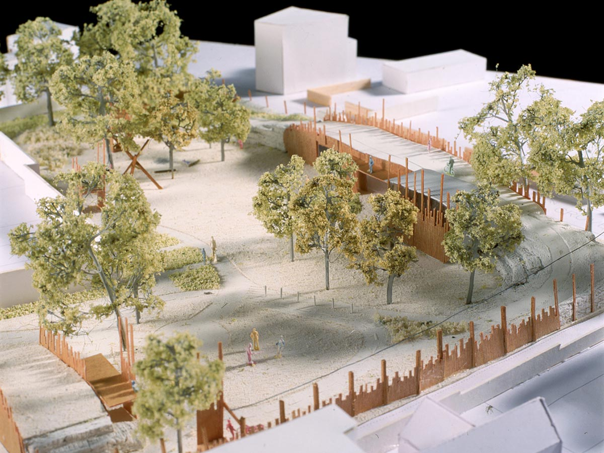 Oasis Cycle Centre Model by Marks Barfield Architects