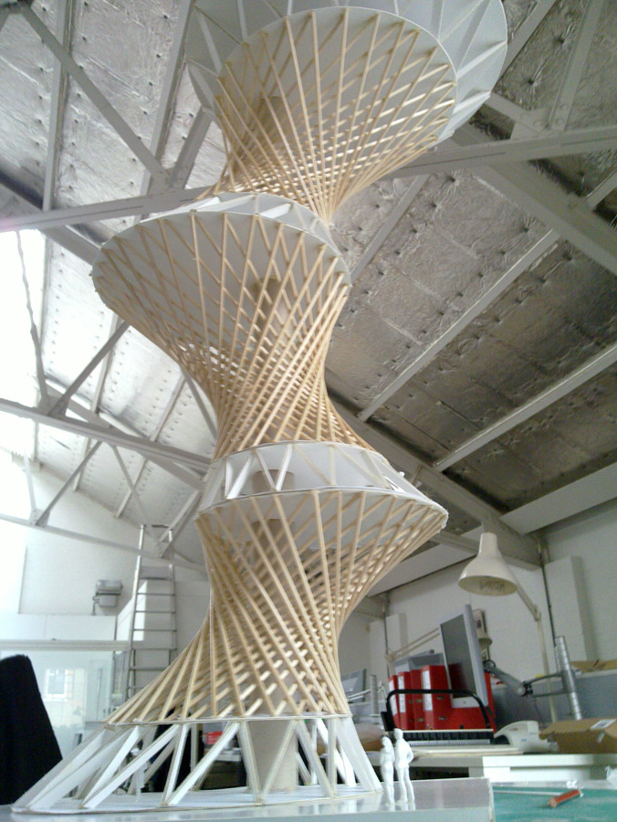 Hyper Tower Model by Marks Barfield Architects