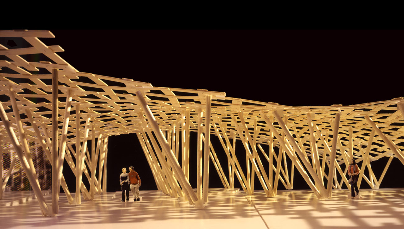 joinedupdesignforschools plywood model by Marks Barfield Architects